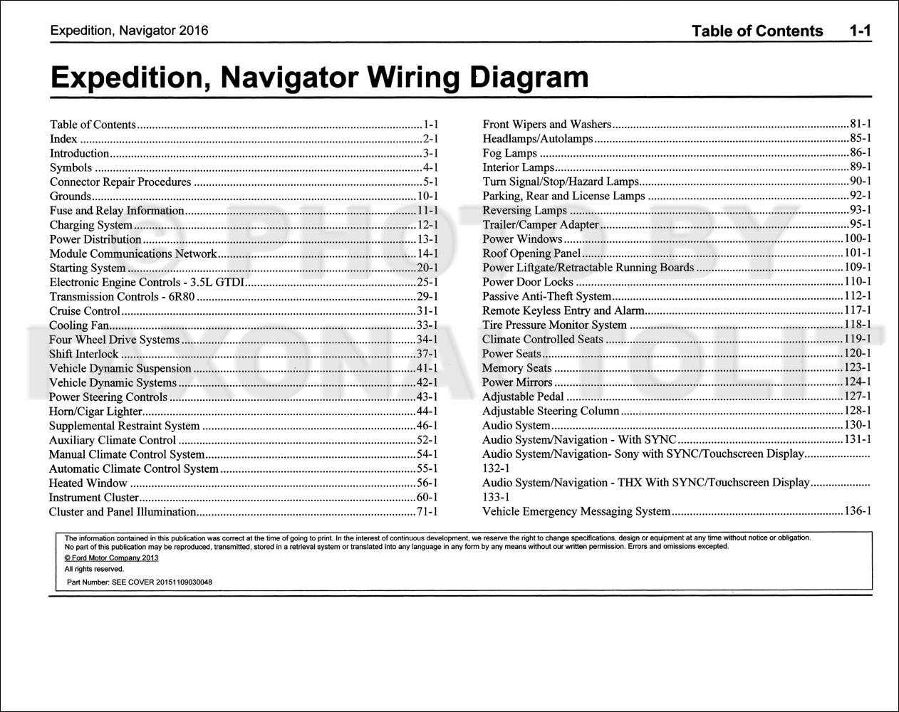 2016 Ford Expedition Lincoln Navigator Wiring Diagram