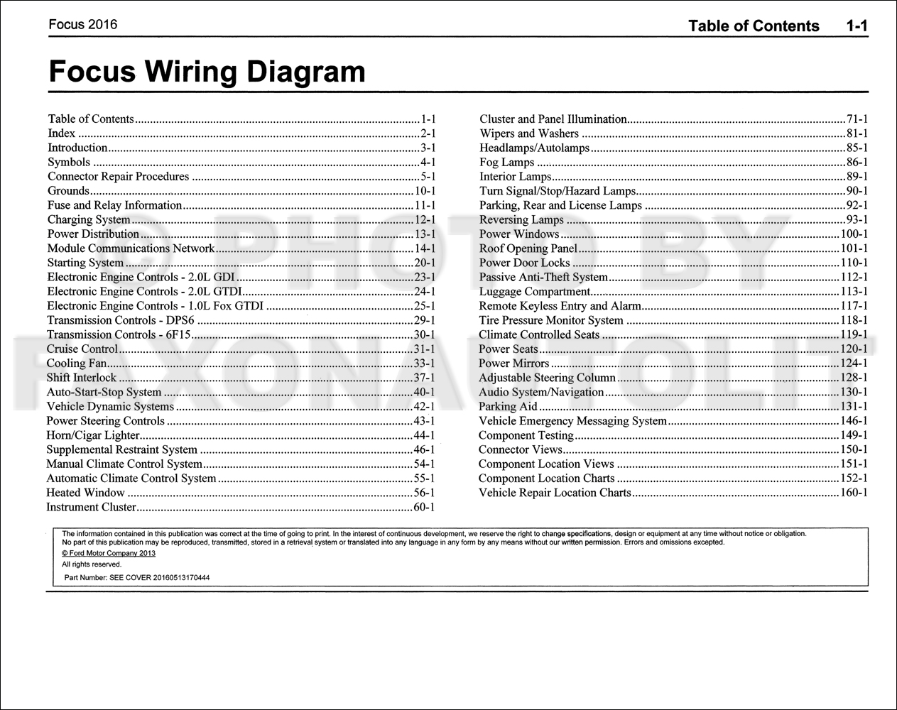 2009 Ford Focus Wiring Diagram
