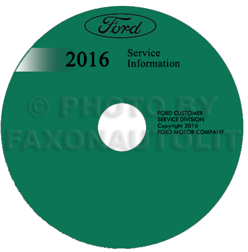 2016 Ford Fusion Lincoln MKZ Repair Shop Manual on CD-ROM Original Gasoline Models