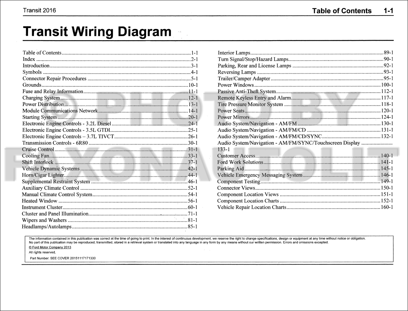 Ford Van Wiring Diagram 2016 Custom 2001 F150 Manual Original Transit Rh Faxonautoliterature Com Truck Diagrams