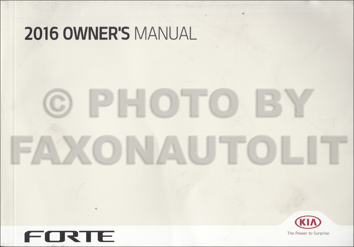 2016 Kia Forte Owners Manual Original