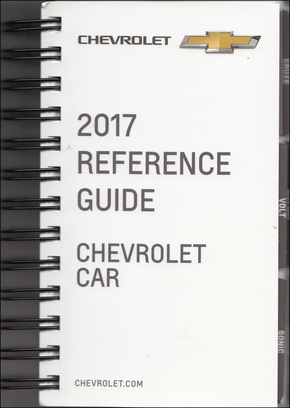 2017 Chevrolet Car Data Book with Color & Upholstery Original