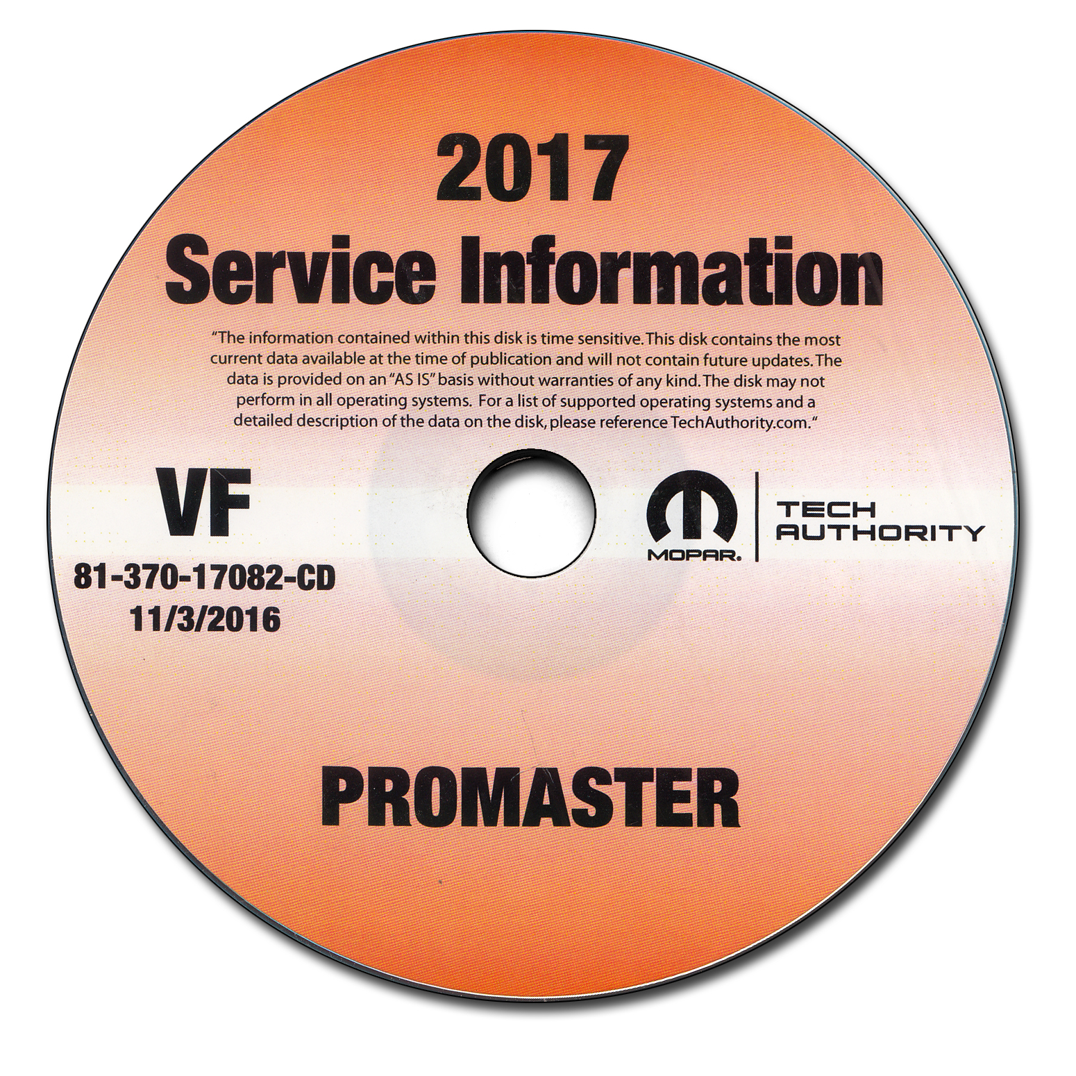2017 Ram Promaster Repair Shop Manual CD-ROM 1500 2500 3500 Dodge