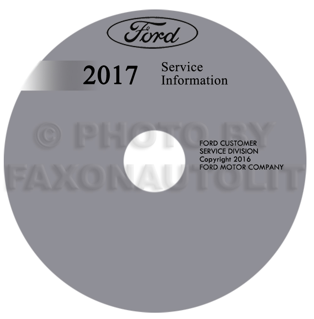 2017 Ford Fiesta Repair Shop Manual on CD-ROM Original