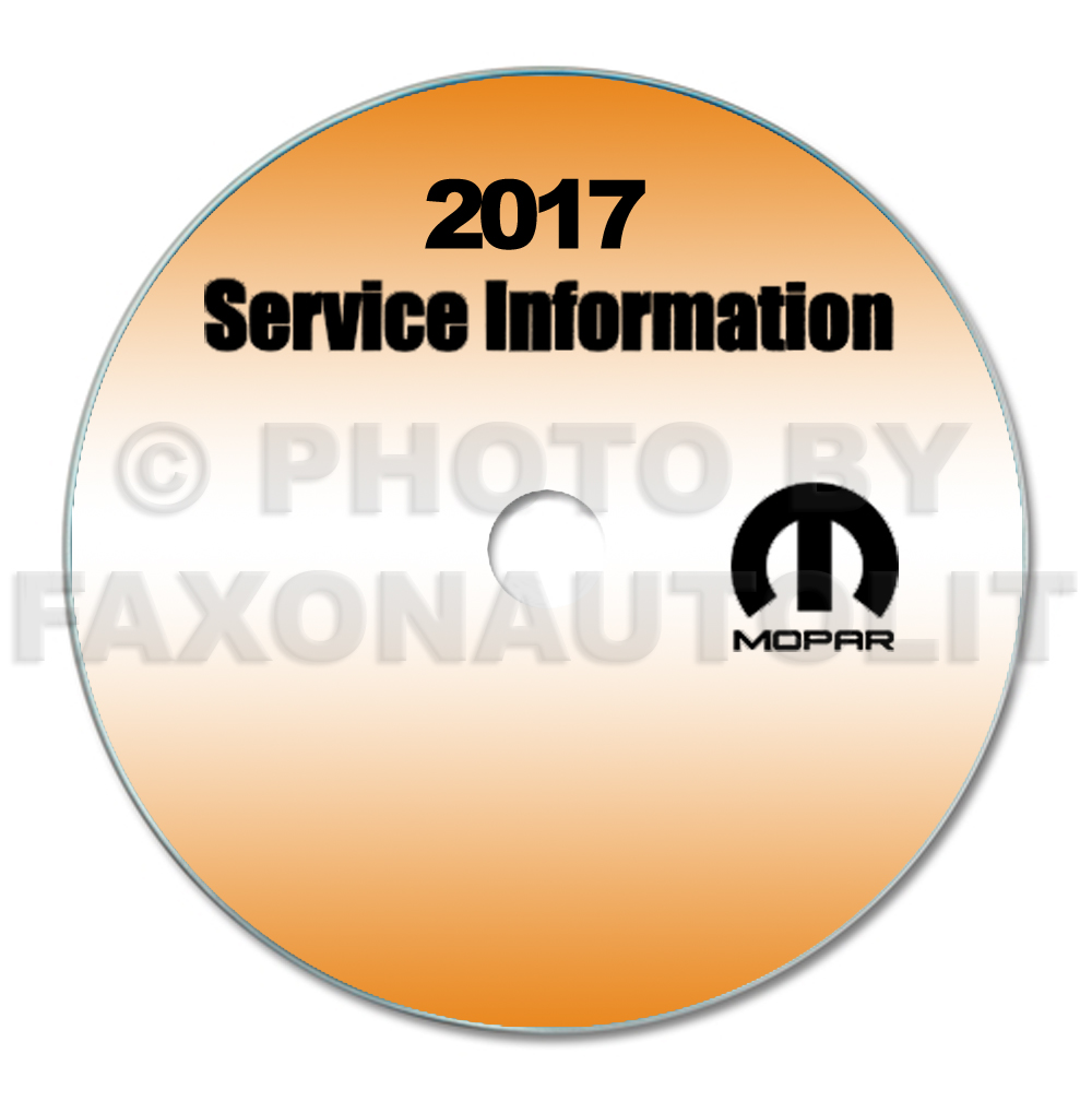 2017 Dodge Grand Caravan Repair Shop Manual CD-ROM