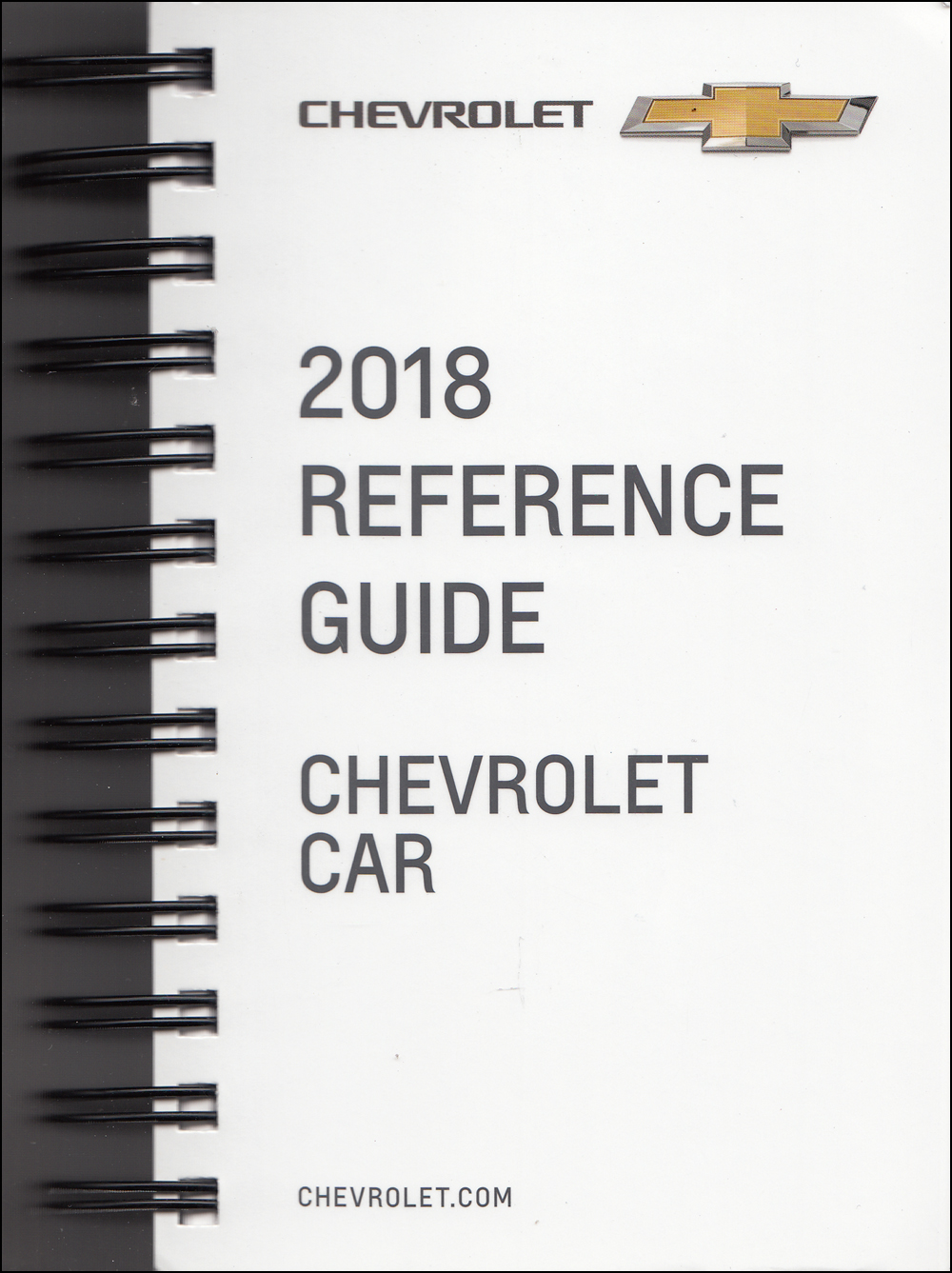2018 Chevrolet Car Data Book with Color & Upholstery Original