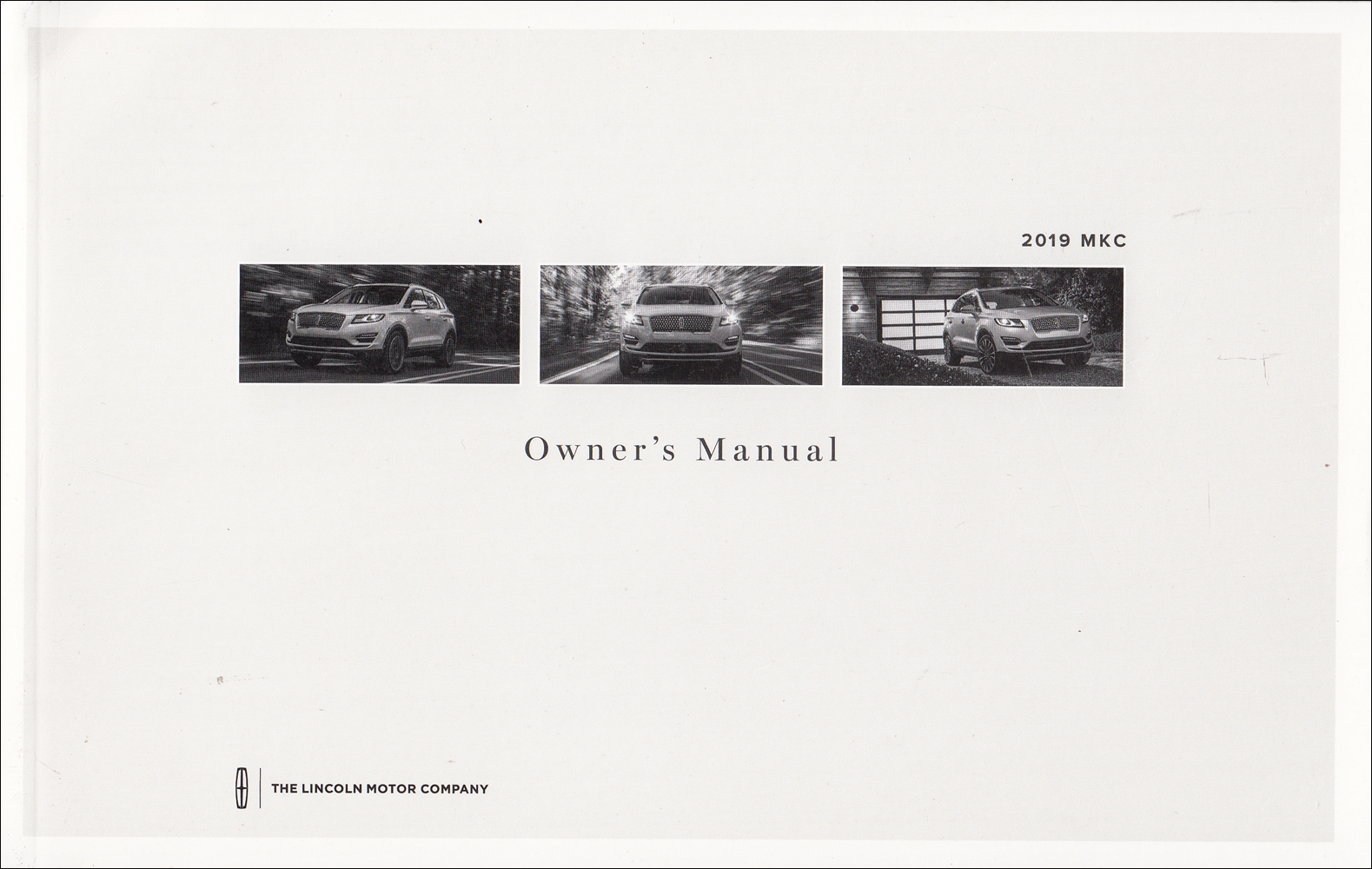 2019 Lincoln MKC Owner's Manual Original