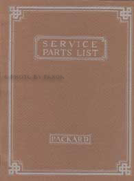 1922-1929 Packard Eight Illustrated Master Parts Book Reprint