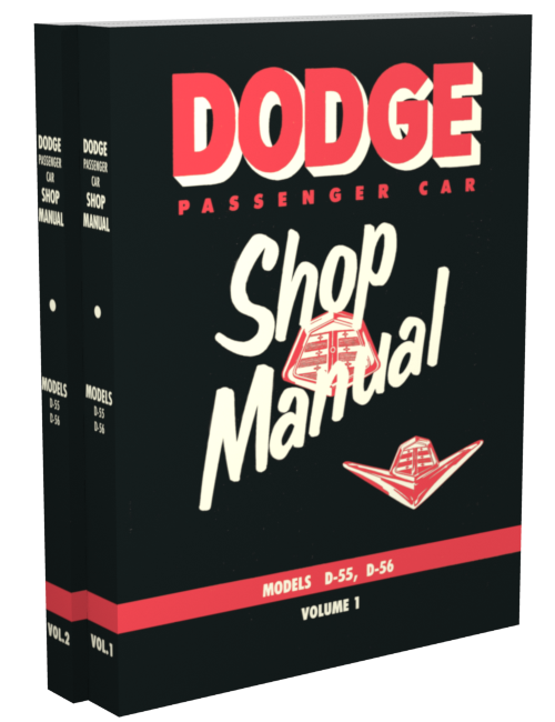 1955 Dodge Car Shop Manual Reprint 2 Volume Set