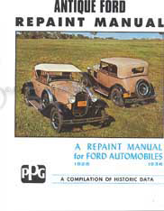 1928-1936 Ford Repaint Manual Model A AA & V8