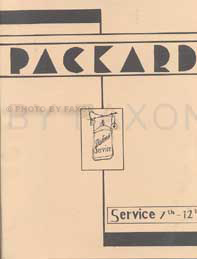 1930-1935 Packard Reprint Service Letters - updates to shop manual
