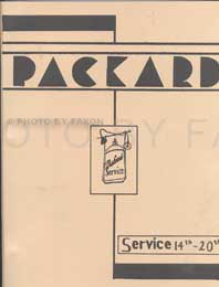 1936-1944 Packard Reprint Service Letters