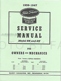 1939-1947 Ford 2N & 9N Tractor Shop Manual Reprint