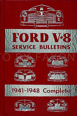 1941-1948 Ford, Lincoln, and Mercury Hardbound Service Bulletins