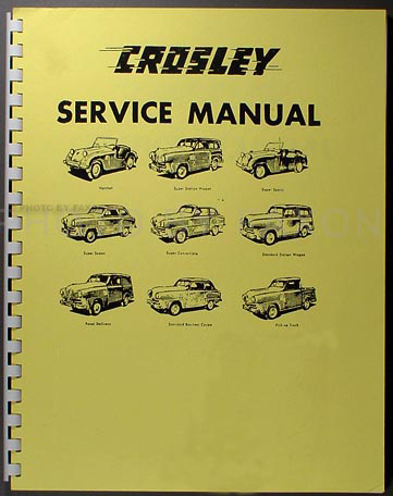 1946-1952 Crosley Shop Manual Reprint--All Models