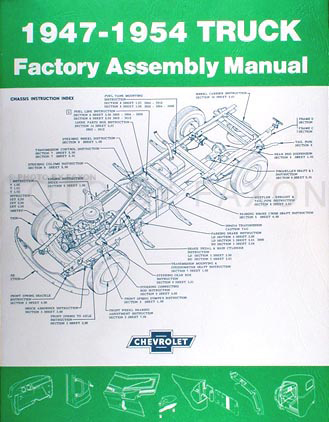 1947-1954 Chevrolet Pickup Truck Assembly Manual Reprint
