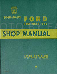 1949-1951 Ford Car Shop Manual Reprint