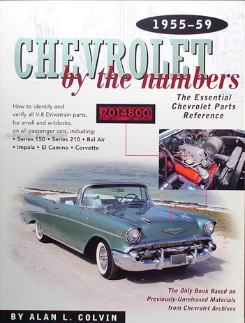1955-1959 Chevy By the Numbers Decoder Book for V8 Drivetrain Parts