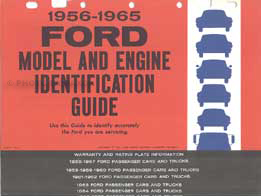 1956-1965 Ford Model Engine ID Guide Original