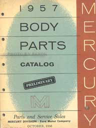 1957 Mercury Body Parts Book Original