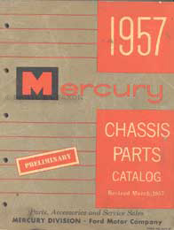 1957 Mercury Chassis Parts Book Original