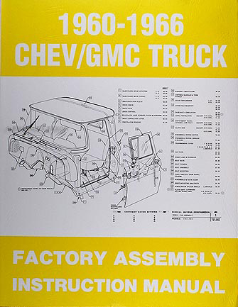 1960-1966 Chevrolet & GMC Pickup Truck Assembly Manual Reprint