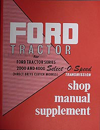 1962-1963-1964 Ford Tractor Shop Manual Reprint Supplement
