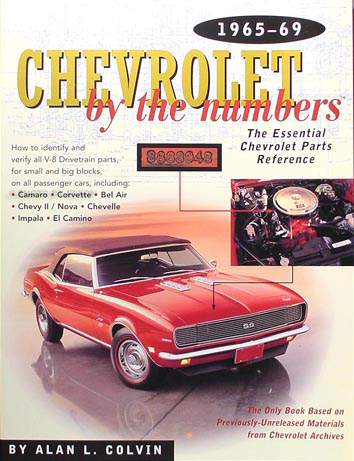 1965-1969 Chevy By the Numbers Decoder Book for V8 Drivetrain Parts