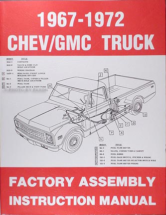 1967-1972 Chevy Truck GMC Assembly Manual Reprint Pickup Suburban Blazer Jimmy