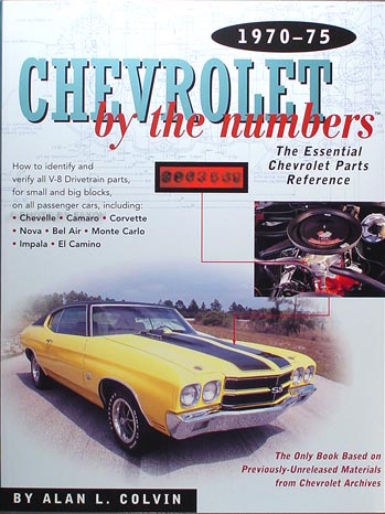 1970-1975 Chevy By the Numbers Decoder Book for V8 Drivetrain Parts
