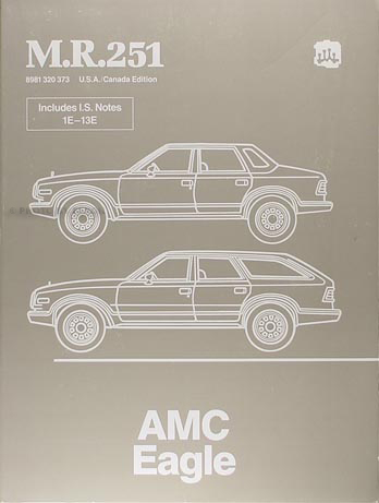 1984-1988 AMC Eagle Shop Manual Original M.R.251