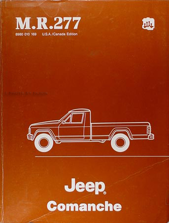 1986 Jeep Comanche Shop Manual Original - M.R. 277