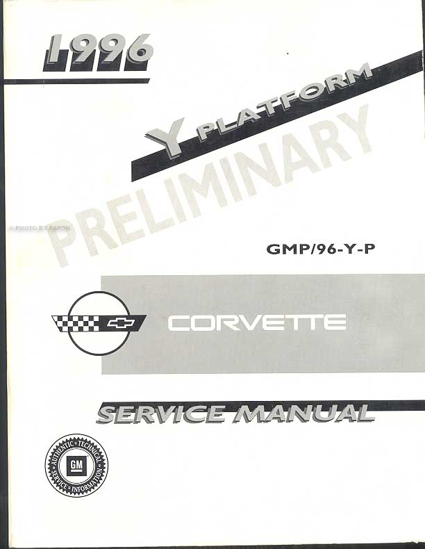 1996 Chevrolet Corvette Repair Manual Original 2 Volume Set
