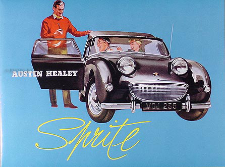 1958-1959-1960 Austin Healey Sprite Reprint Sales Brochure
