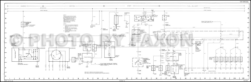 1978 BMW 733i Wiring Diagram Original