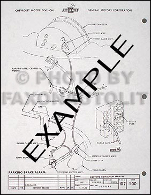 1960 Corvette Reprint Factory Assembly Manual