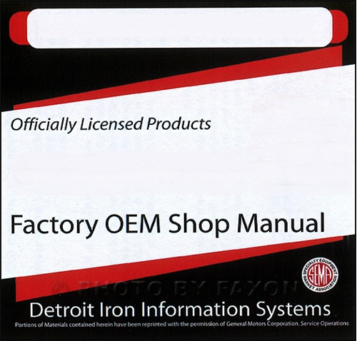 1972 Chevy CD-ROM Shop, Overhaul & Body Manuals plus Parts Book
