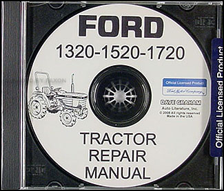 1984-1988 Ford Tractor 1320-1720 Shop Manual Set on CD