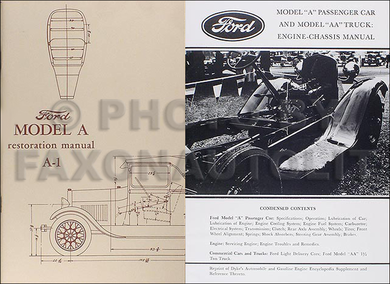 1928-1931 Ford Model A & AA Chassis & Body Restoration Set Reprint