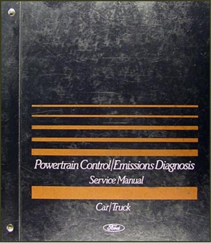 1989 Ford Engine/Emissions Diagnosis Manual Original