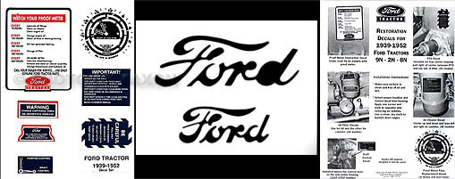 1948-1952 Ford 8N Decal/Paint Script Reprint Restoration Set