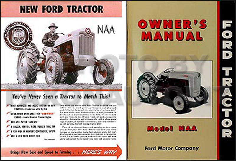 1954-1955 Ford NAA Golden Jubilee brochure/manual set Reprint
