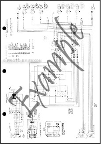 1991 Ford Bronco F150-F350 and Super Duty Factory Foldout Wiring DiagramFaxon Auto Literature