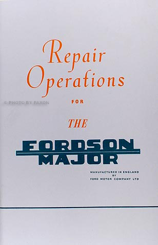 1953-1961 Fordson Major Tractor Shop Manual Reprint
