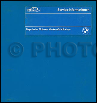 1982-1988 BMW 524 td 528e 533i 535i Repair Manual Original