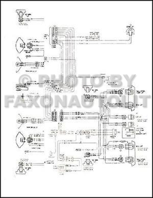 mid-1975 Chevrolet and GMC T6 Steel Tilt Truck Wiring Diagram Original