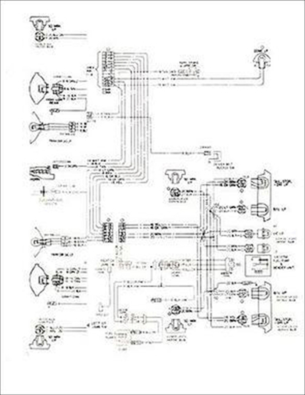 1977 Chevy Monza Foldout Wiring Diagrams Original