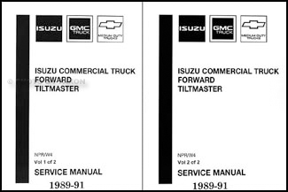 1989-1991 NPR & W4 Truck Repair Manual 2 Volume Set