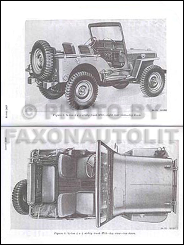 1950-1952 Jeep M38 Shop Manual Reprint for repair service, Military form# TM 9-8012