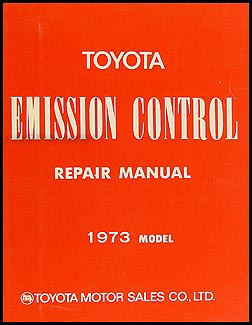 1973 Toyota Land Cruiser Emission Control Manual Original No. 98086